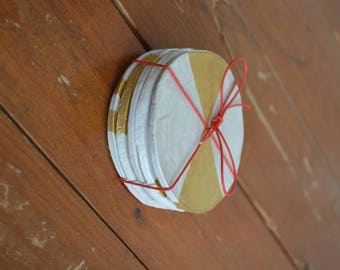 Clay Coasters with a Touch of Gold