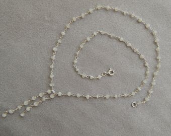 Necklace silver Sterling and Moonstone