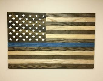 Howell Flag Wall Art- with Blue Stripe