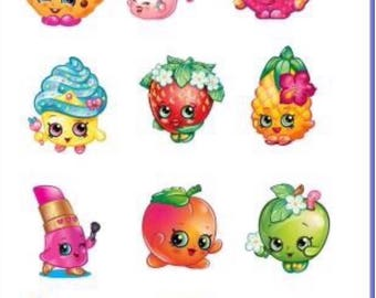 Shopkins Temporary Tattoo Sticker. Party Supplies Bunting Lolly Loot Bags
