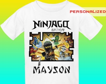 Personalize Ninjago Iron On Transfer, Ninjago Birthday Shirt Iron On Transfer, Lego Ninjago Transfer, Digital File Only