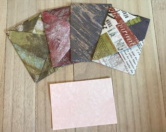 Newsprint theme lined envelopes with notecards