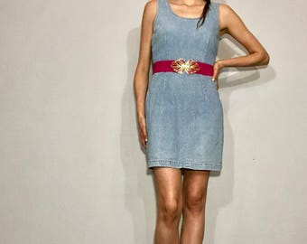 1990s denim mini dress