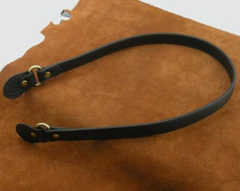 1 pair strap handle length 73 cm black faux leather bag handle