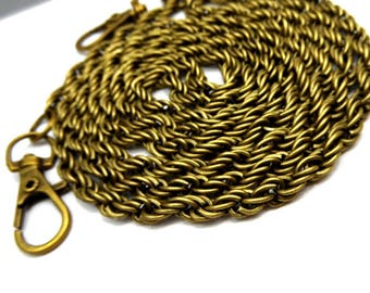 1 x 118cm string mesh bag with bronze coloured lobster clasp 4mm twisted