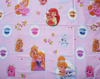 "Cotton fabric child's theme ""PRINCESSES"""