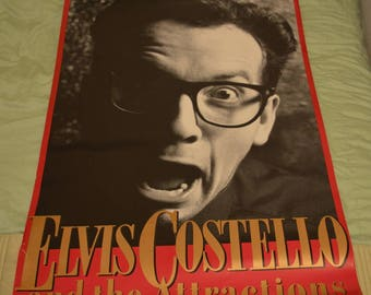 Elvis Costello & The Attractions Promotional Poster No Refunds