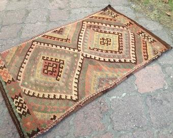 Turkish kilim, Kilim cushion, Orginal kilim pillow, Handmade kilim, Unique cushion pillow // FREE SHİPPİNG !! 99 cm x 61 cm = 3,2 ft x 2 ft