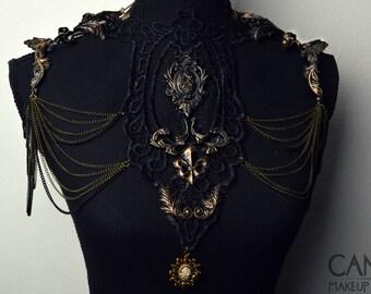 baroque floral shoulder pieces