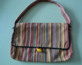 cotton striped bayadere woman handbag