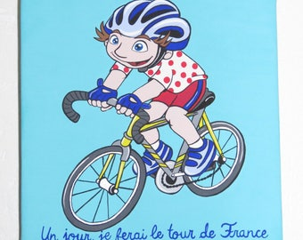 Table 20 x 20: someday, I will make the tour de France for boy