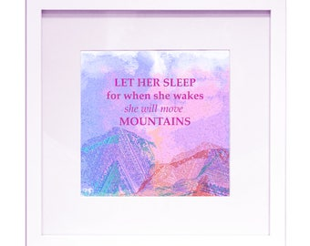 """She Will Move Mountains - 12"""" x 12"""" Printable Quote"""