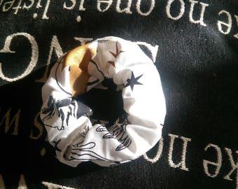 Hand Sewn Harry Potter Scrunchie - White