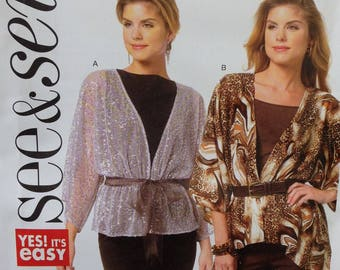 Butterick See & Sew Pattern B5740, Misses Jacket, Size 8=22, OOP
