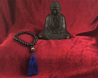 Buddhist-style mala with millefiori trade bead