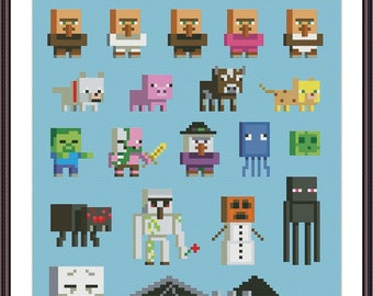 Video Game Parody Sampler 2 Cross Stitch Pattern PDF Instant Download