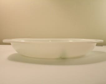 Vintage Opal/white Pyrex 1083 Divided Dish