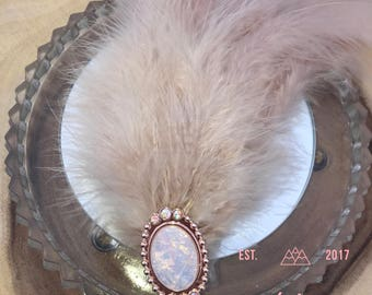 Bridal Feather Headpiece