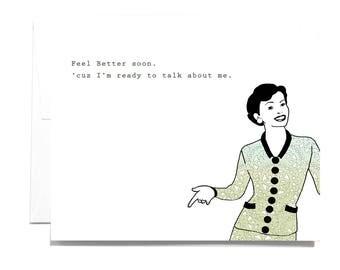 Feel better soon Note Card