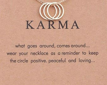 "Necklaces for women "" Good Karma and Karma """