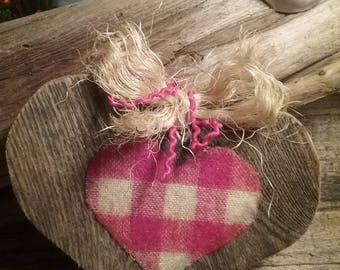 Barn wood heart, guard your heart warm!