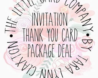 Invitation/Thank You Card Package Deal Add-on (Excludes Baby Shower)