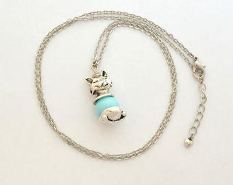 Cat Bead Necklace