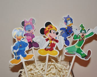 Mickey and the Roadster Racers Cupcake Toppers set of 12