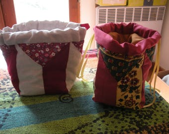 """Pouch, toilet bag """"handmade"""" patchwork fashion"""