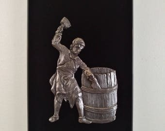 The Cooper - Bas-relief pewter