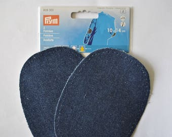 reinforcement fusible/a sew elbow/knee 10x14cm lined prym 929303 raw dark blue jeans