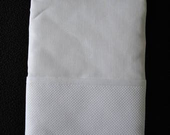 health booklet protection cover white embroidery