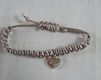 Adjustable Friendship Bracelet with Charm