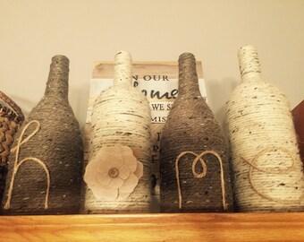 Wine bottle decor - HOME