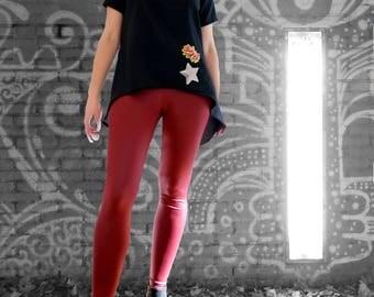 Leggins faux leather in wine red - Leder- Leggins in Weinrot (vegan)