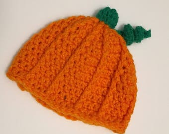 Infant pumpkin hat