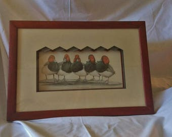 Framed post card