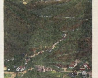 Idaho Springs, Colorado Vintage Postcard - 5 Elevations on Road to Central City, Virginia Cavern Road, Squaw Mountain