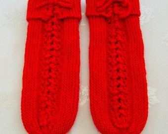Night slippers kids wool size 32-33