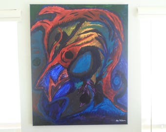 """Abstract """"Tangible Death"""" 30x24 inches"""