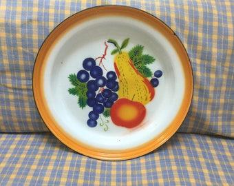 Large French enamel serving platter