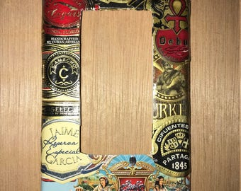 Cigar label standard rocker switch plate cover