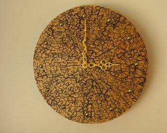 Rustic, handmade, wooden wall clock
