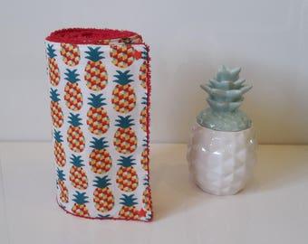 "Paper towel ""towel"" washable pineapple motif"