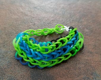 Small Green, Blue, and Black Bracelet
