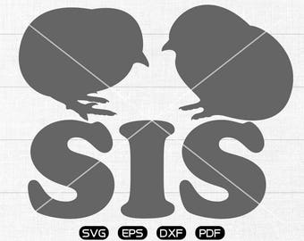 Chicken sis SVG Files, Chicken sis Clipart, cricut, cameo, silhouette cut files commercial & personal use