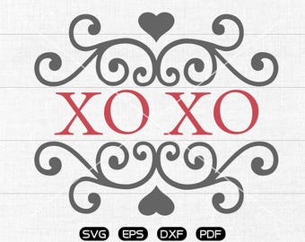 Valentine's Day SVG, XOXO svg, Valentine Clipart, cricut, silhouette cut files commercial use