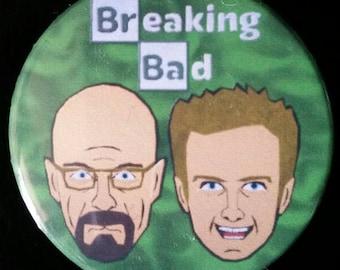 Breaking Bad. Walt & Jesse. Custom 38mm Pin Badge.