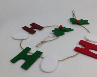 chrismas garland felt garland gift  decoration personalized gift for friend  personalized gift for women
