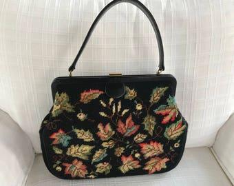 Vintage Needlepoint Tapestry Handbag/Purse. New